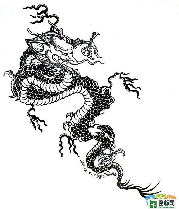 又简单又好看的中国龙简笔画1